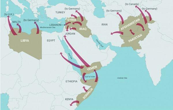 Da dove e perché partono: 37 milioni in fuga dalle guerre Usa