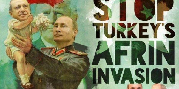 """Afrin, il cortocircuito della """"sinistra antagonista"""": """"Ribelli moderati"""" contro curdi ma """"la colpa è di Putin"""""""
