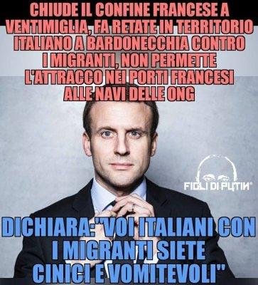 Visto che uomo Macron? Orgoglio e dignità dell'Italia, finalmente