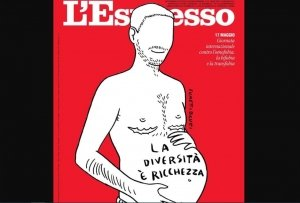 L'Espresso fa il tifo per la scomparsa della donna e glorifica il maschio col pancione