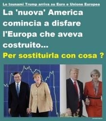 Lo tsunami Trump arriva su Euro ed UnioneEuropea