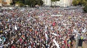 Io non so quante persone ci fossero a Piazza San Giovanni