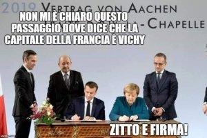 Il vertice di Aquisgrana. l'Italia è a un bivio: tornare a tessere le relazioni internazionali o morire subalterna