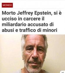 Come era prevedibile, Epstein è stato trovato morto