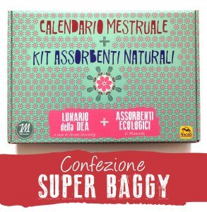 Calendario Mestruale + KIT Assorbenti Naturali - SUPER BAGGY