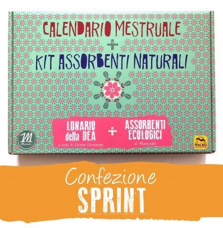 Calendario Mestruale + KIT Assorbenti Naturali - SPRINT - cofanetto base