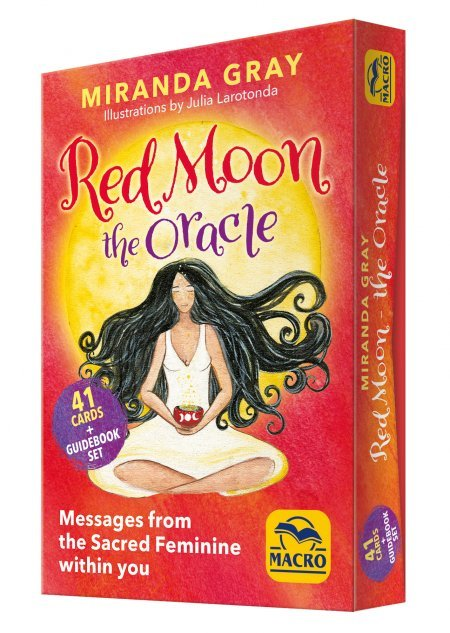 Red Moon The Oracle - 41 Cards + Guidebook Set - Libro